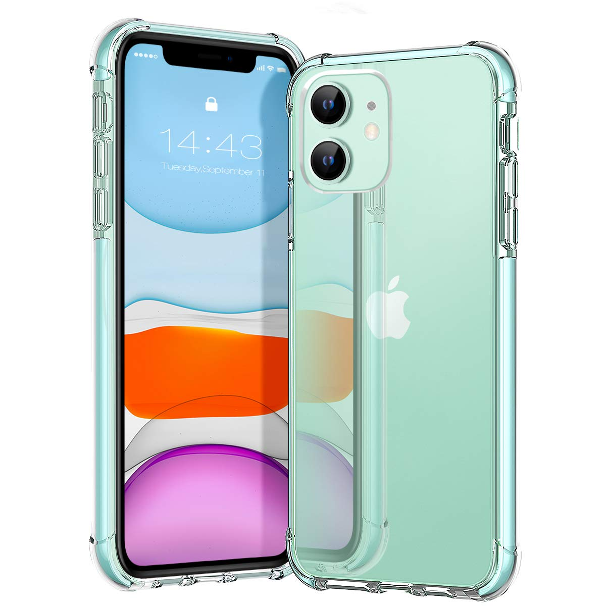 MATEPROX iPhone 11 Case Clear Heavy Duty Protective Crystal Back-min
