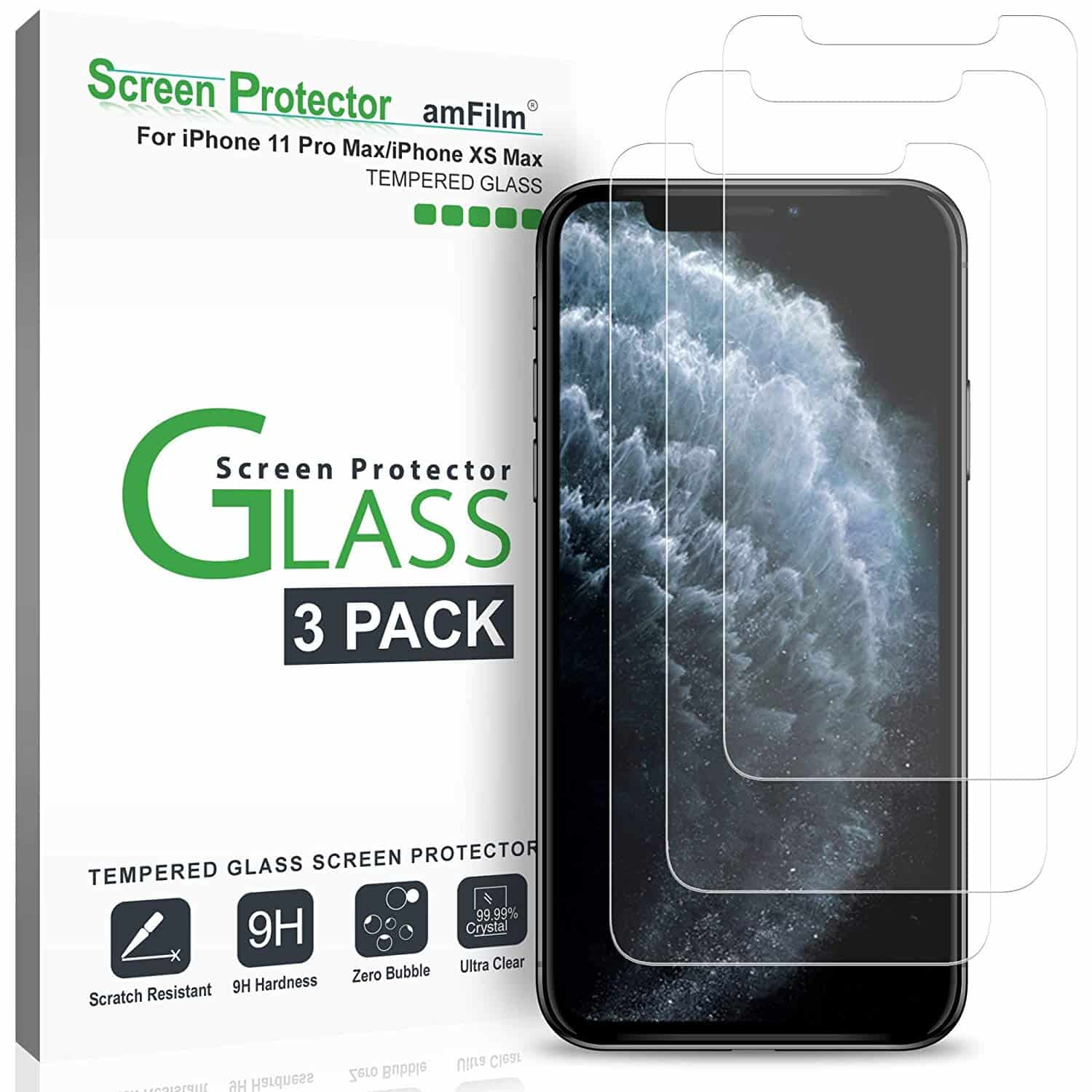 _amFilm Glass Screen Protector for iPhone 11 Pro Max-min