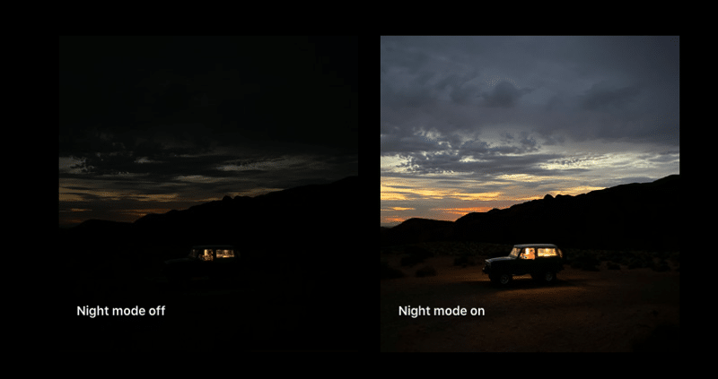 iPhone 11 Pro Low light feature