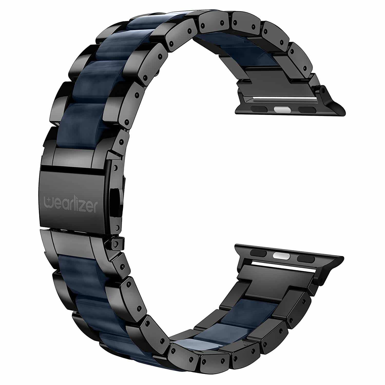 Wearlizer Black Compatible with Apple Watch Band-min
