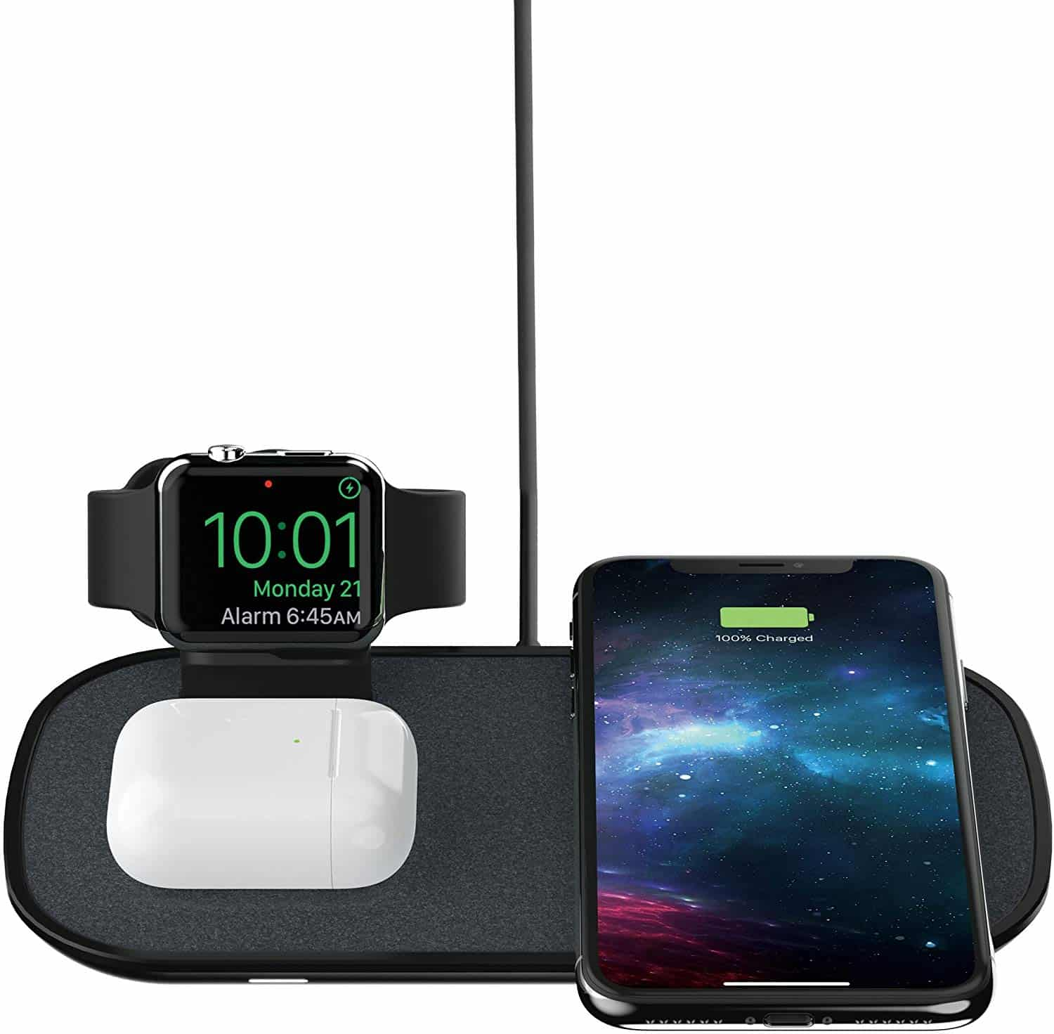 mophie 3 in 1 Wireless Charge Pad - Qi Wireless Charging Pad-min